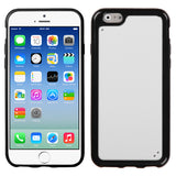 For iPhone 6s/6 Glassy Solid White/Black Gummy Protector Cover Case
