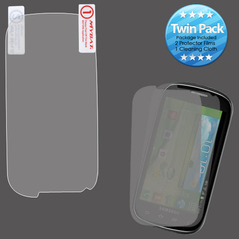 2x LCD Screen Cover Protector Film Cloth Wipe SAMSUNG I415 Glxy Stratosphere II