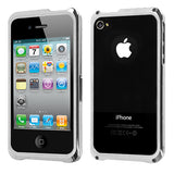 For iPhone 4s/4 Silver Surround Shield with Chrome Coating Metal