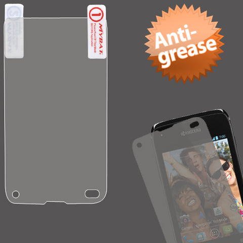Clear Anti-grease LCD Screen Protector +cloth for Kyocera Event