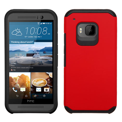 For One M9 Red/Black Hybrid Astronoot Phone Protector Cover Case