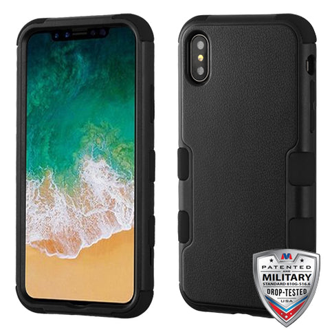 For iPhone XS/X TUFF Hybrid Impact Armor Shield Rugged Phone Protector Case
