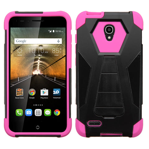 For 7046T One Touch Conquest Hot Pink Inverse Advanced Armor Stand Case Cover
