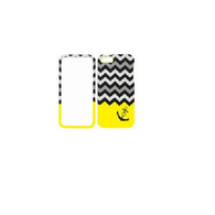Anchor/Chevron Yellow/Gray Two Piece Design Protector Cover Case for iPhone 5 5S