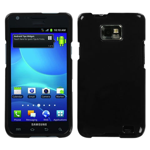 For I777 Galaxy S II Natural Black Hard Snap On Phone Protector Cover Case