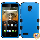 For 7046T One Touch Conquest Natural Dark Blue/Black TUFF Hybrid Case Cover