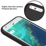 For Google Pixel XL Black Dots Textured/Black Fusion Protector Skin Case Cover
