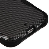 For HTC Bolt Carbon Fiber/Black TUFF Hybrid Phone Armor Protector Case Cover