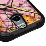 For HTC Bolt Pink Oak Hunting Camouflage/Black TUFF Hybrid Protector Case Cover