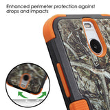 For HTC Bolt Yellow/Black Vine/Orange TUFF Hybrid Armor Protector Case Cover