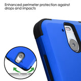 For HTC Bolt Titanium Dark Blue/Black TUFF Hybrid Phone Protector Case Cover