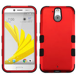 For HTC Bolt Titanium Red/Black TUFF Hybrid Phone Armor Protector Case Cover