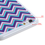 Chevron/Waves Teal Durable Hard Flexible Protector Cover Case for iPhone 6 Plus