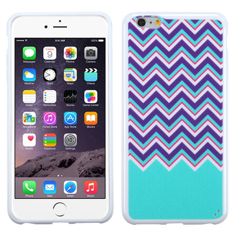 Chevron/Waves Zig Zag-Teal Blue, Purple, Hot Pink