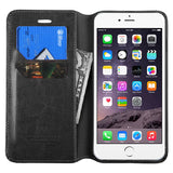 Black Book Style MyJacket Card Wallet Protector Cover Case for iPhone 6 Plus