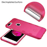 For iPhone 7 / 8 Plus Hot Pink Transparent Cosmic Space Candy Skin Cover Case