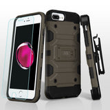 For iPhone 7 / 8 Plus Dark Grey/Black 3-in-1 Storm Tank Hybrid Protector Cover