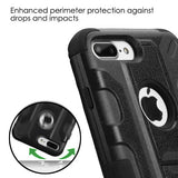 For iPhone 7 / 8 Plus Black/Black Galactic Impact Protector Case Cover Stand