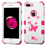 For iPhone 7 / 8 Plus Butterfly Dancing/Hot Pink TUFF Hybrid Protector Cover