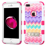 For iPhone 7 / 8 Plus Camo Wave/Hot Pink TUFF Hybrid Protector Cover with Stand