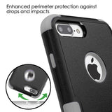 For iPhone 7 / 8 Plus Natural Black/Iron Gray TUFF Hybrid Phone Protector Cover