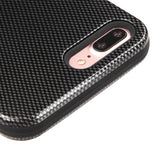 For iPhone 7 / 8 Plus Carbon Fiber/Black VERGE Hybrid Armor Protector Case Cover