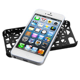 Black Abstract Bird's Nest Rubberized Back Protector Cover Case iPhone 5