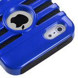 Dark Blue/Black Microphone Stripes Fusion Protective Cover Case iPhone 5