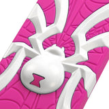 Hot Pink/White Spiderbite Rugged Hybrid Protective Cover Case for iPhone 5