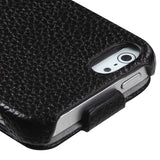 Black Premium Book Style MyJacket Card Wallet Cover Case for iPhone 5