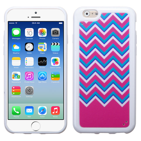 Chevron Zig Zag Waves Hot Pink/Teal Blue