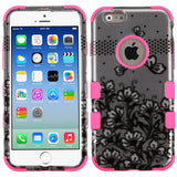 2D Design Case +Silicone Protector TUFF Cover for iPhone 6 6S