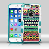Aztec Tribal Print Teal Green/Pink