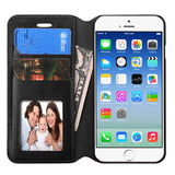 Black Book Style MyJacket Card Wallet Protector Cover Case for iPhone 6