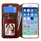 Brown Book Style MyJacket Card Wallet Protector Cover Case for iPhone 6