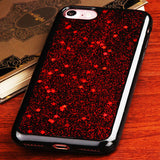 For iPhone 7 / 8 Red Starry Sky/Black Krystal Gel Series Candy Skin Case Cover
