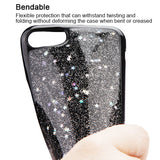 For iPhone 7 / 8 Silver Starry Sky/Black Krystal Gel Candy Skin Case Cover