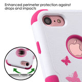 For iPhone 7 / 8 TUFF Design Shockproof Hybrid Phone Protector Case Cover