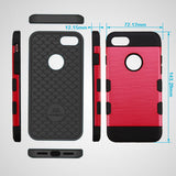 For iPhone 7 / 8 Red/Black Brushed TUFF Trooper Hybrid Protector Cover