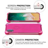 For iPhone XS/X Transparent Hot Pink Sheer Glitter Slim Gel Candy Skin Case