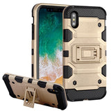 For iPhone XS/X Gold/Black Storm Tank Hybrid Impact Armor Protector Case Cover