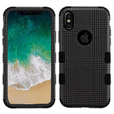 For iPhone XS/X Grey Blazer/Black TUFF Hybrid Armor Phone Protector Case Cover