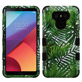 For LG G6 Tropical Palms/Black TUFF Hybrid Phone Shockproof Protector Case Cover