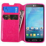 For D415 Optimus L90 Hot Pink MyJacket Wallet +Tray Protector Cover Case
