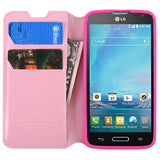 For D415 Optimus L90 Pink MyJacket Wallet +Tray Protector Cover Case