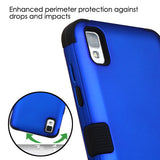 For LG L56VL/Tribute/X STYLE Dark Blue/Black TUFF Hybrid Phone Protector Cover