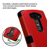 For LS751 Volt 2 Natural Red/Black TUFF Hybrid Phone Case Cover (with Stand)