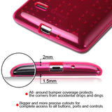 For LG G Vista 2/G Stylo Glassy Transparent Hot Pink SPOTS Candy Skin Cover