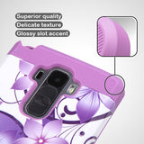 For LG G Vista 2 / G Stylo Purple Hibiscus/Electric Purple TUFF Hybrid Cover
