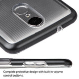 For LG K4/Fortune/K8/Phoenix 3 Metallic Black/Smoke Gradient TUFF Panoview Cover